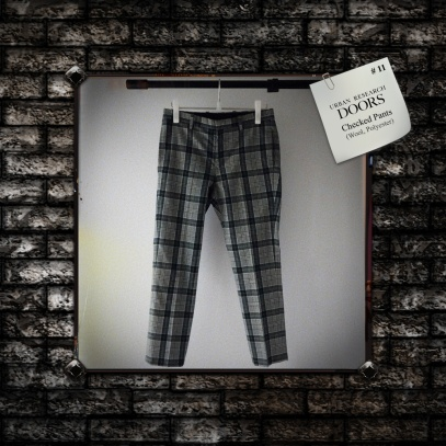 URBAN RESERCH DOORS : Checked Pants (Wool, Polyester)