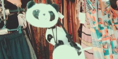 Panda shoulder bag