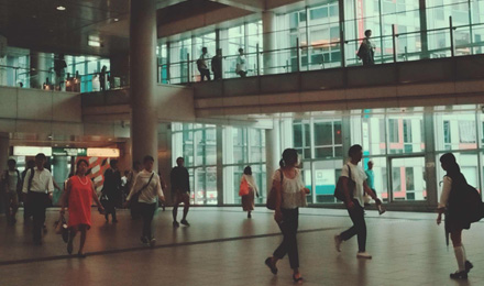 Shibuya station pathway