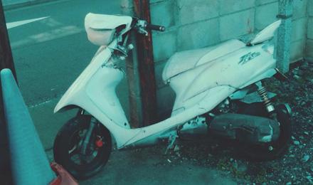 Broken-down scooter