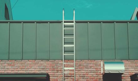 Fixed aluminum ladder