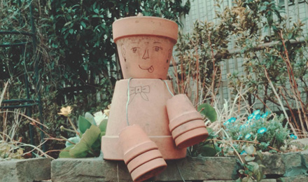 Clay pot decoration