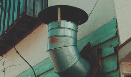 Small metal chimney