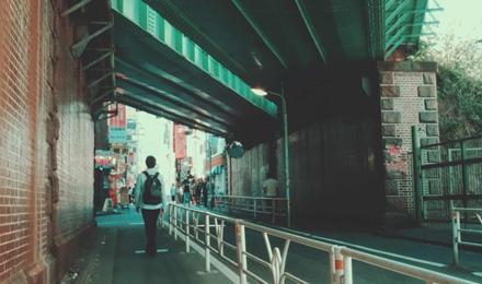 Green railway bridge