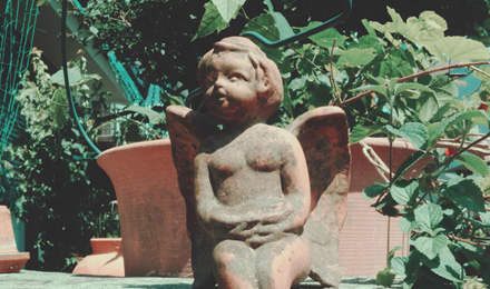 Small angel statue