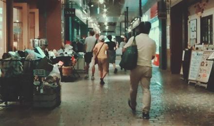 Shops in underpass