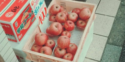 Apples in container