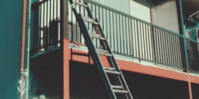 Ladder to second floor