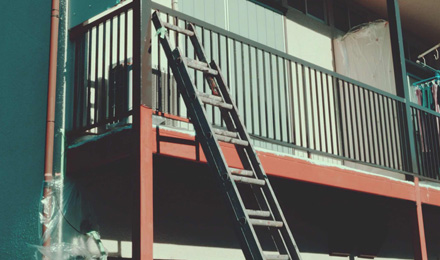 Ladder to second floor