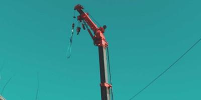 Mobile crane boom