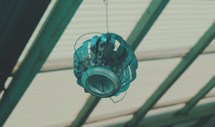Small round lantern