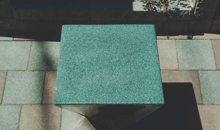 Concrete tapered cube