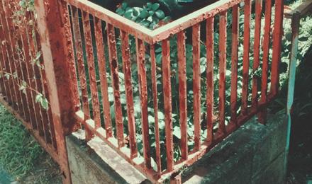Rusty fence