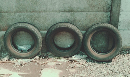 Three tires