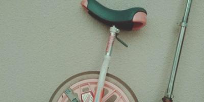 Pink unicycle