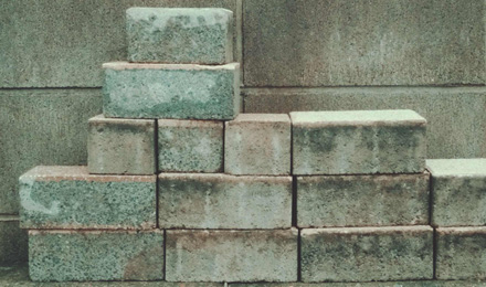 Solid cement blocks
