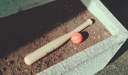 Plastic bat and ball