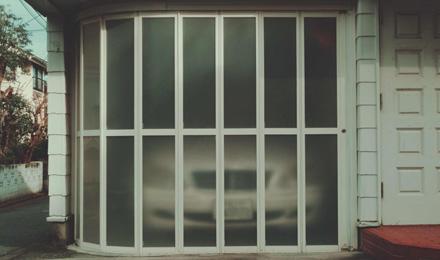 Semi-transparent sliding door