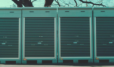 Motorbike storage containers