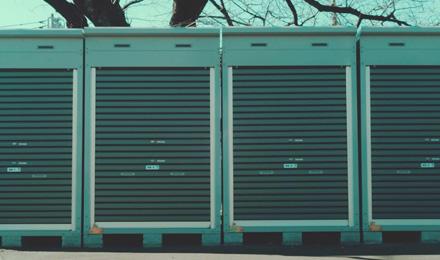 Motorbike storage containers